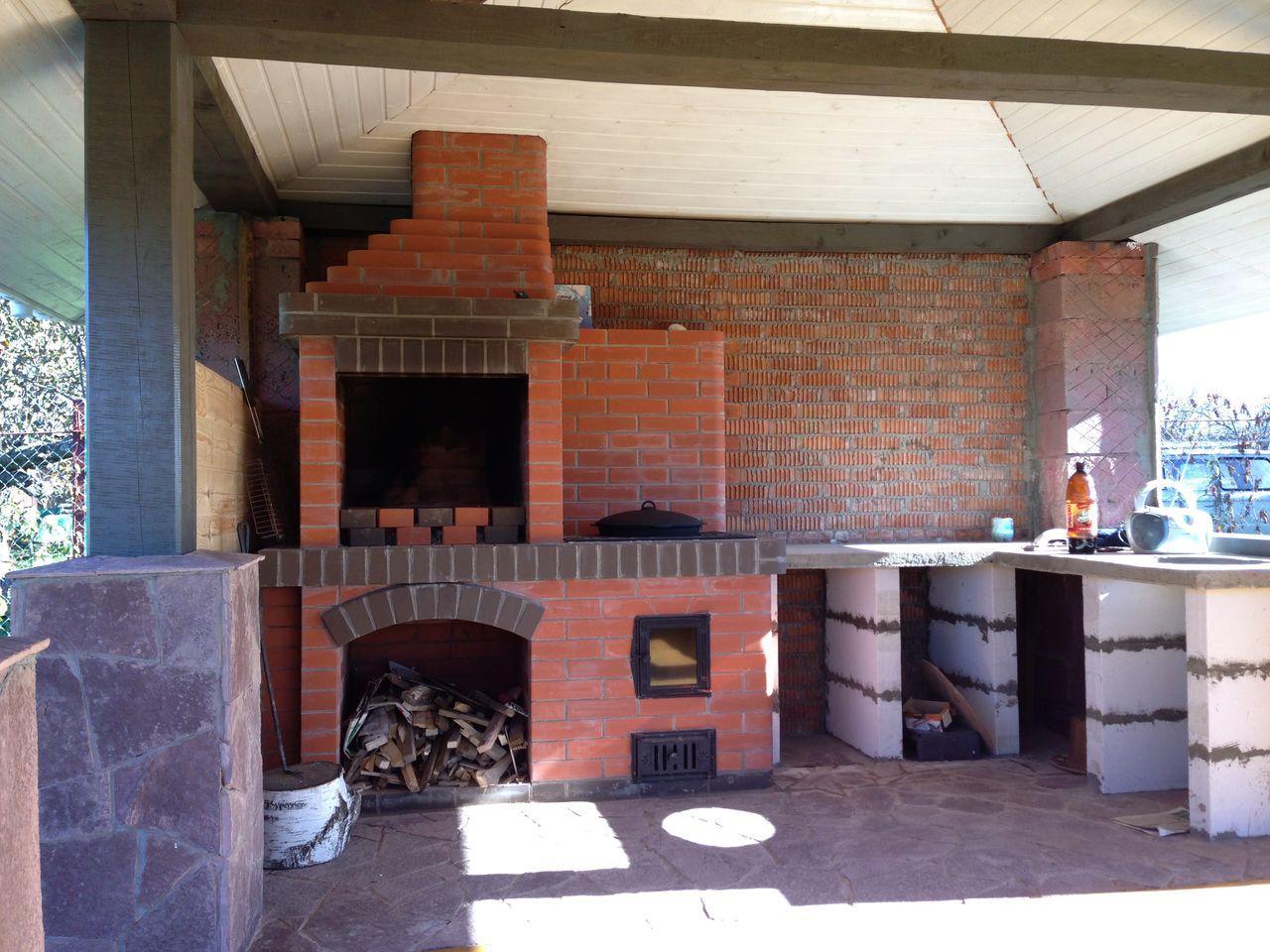 Как построить гараж своими руками барбекю навеси с барбекю
