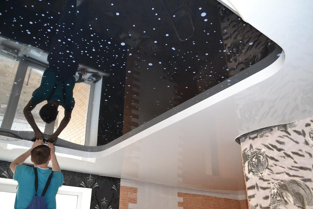Натягиваем потолки своими руками 66