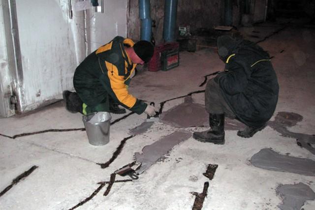 Устранение дефектов бетонной стяжки