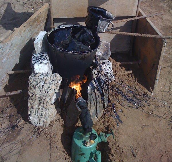 Ёмкость для самостоятельного приготовления битума