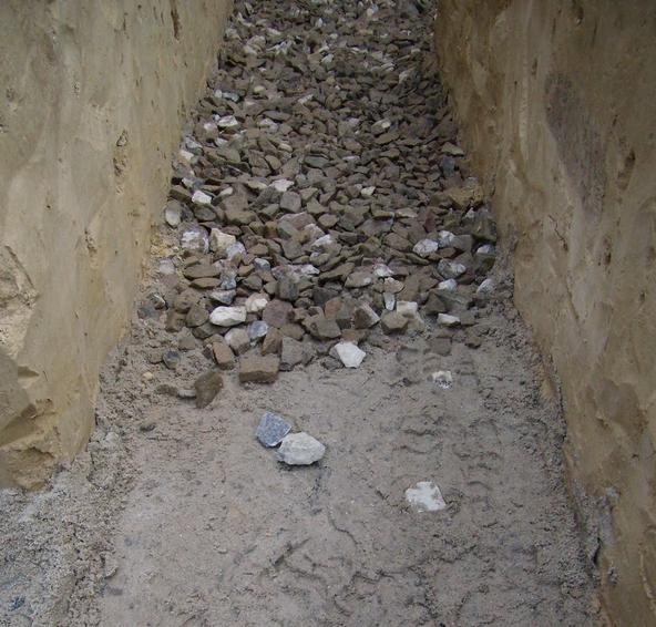 Подушка из гравия и песка под смотровую яму