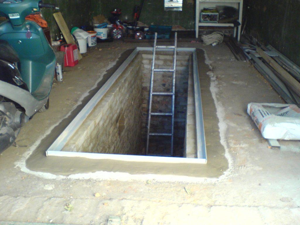 Закладная рама смотровой ямы под крышку