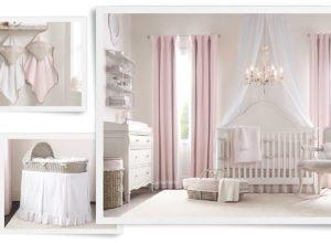 Детская комната для новорожденной девочки во французском стиле