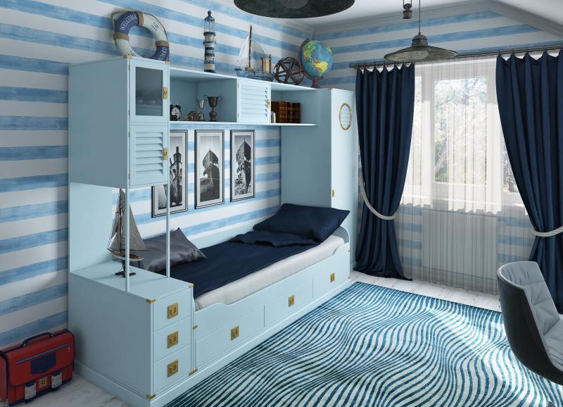 Детская комната в морском стиле