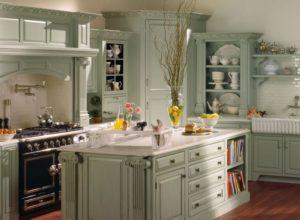 Кухня в стиле прованс в пастельных тонах