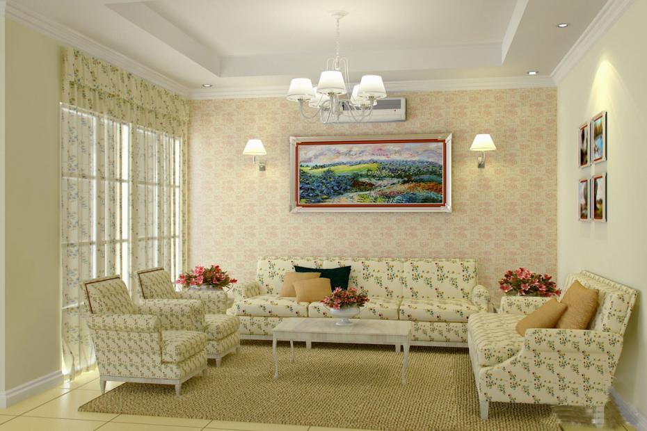 Мебель для гостиной в стиле прованс низкая и удобная
