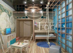 Морской стиль оформления комнаты для подростка