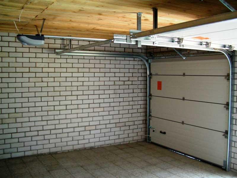 Ворота секционные для гаража своими руками 91