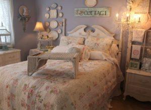 Спальня в стиле прованс в пастельных тонах