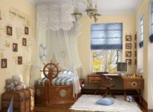 Типичный морской стиль детской комнаты