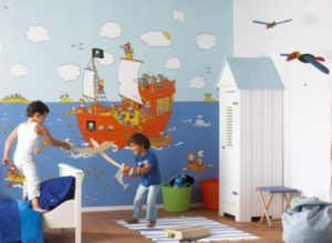 Вариант оформления детской комнтаы в морском стиле