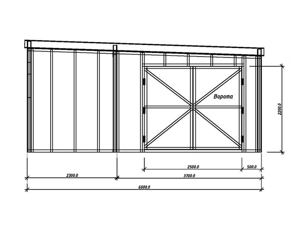 Схематичное изображение гаража