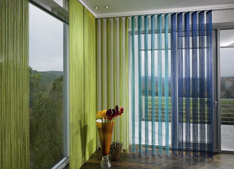 фото кисея шторы в интерьере