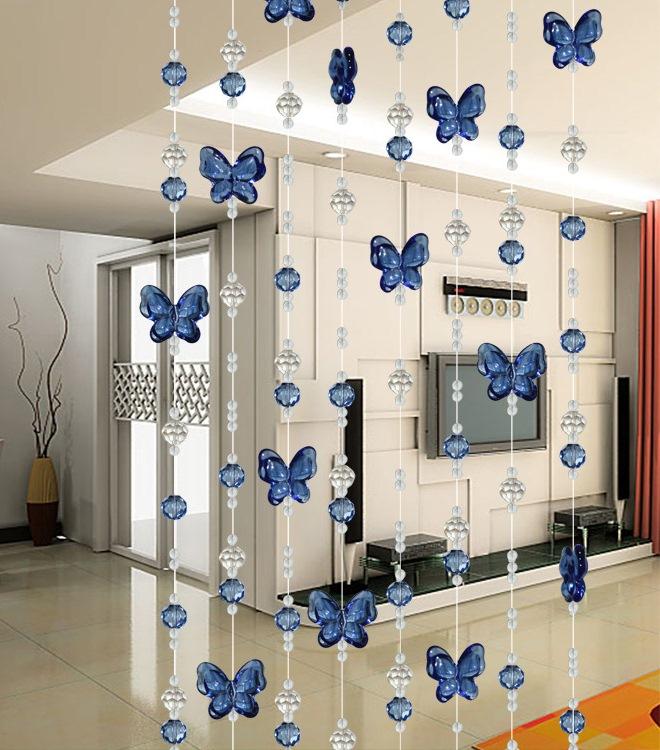 Шторы-нити с бабочками