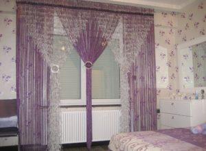 Спальня с кисеёй