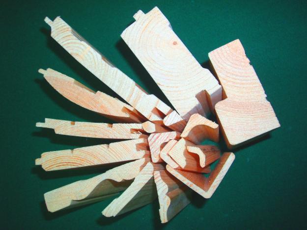 Торцы разных деревянных профилей