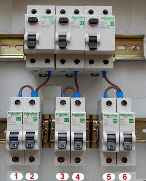защита линии с совместным использованием УЗО и дифавтоматов