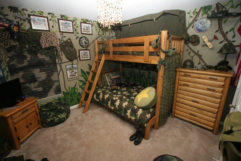 Детская в военном стиле