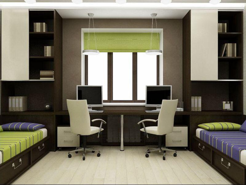 Детская комната в шоколадном цвете
