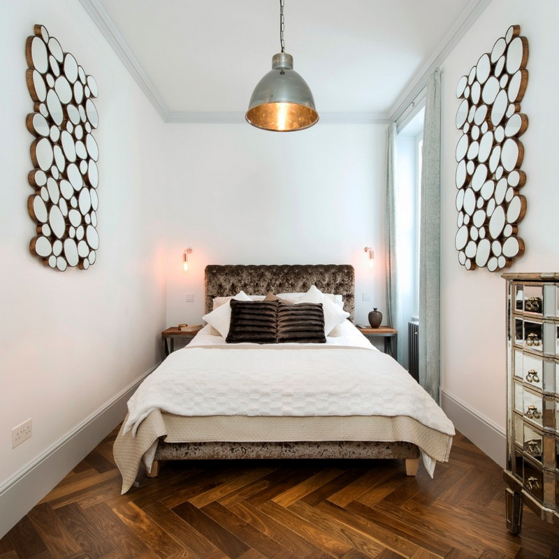 Достоинства узкой спальни