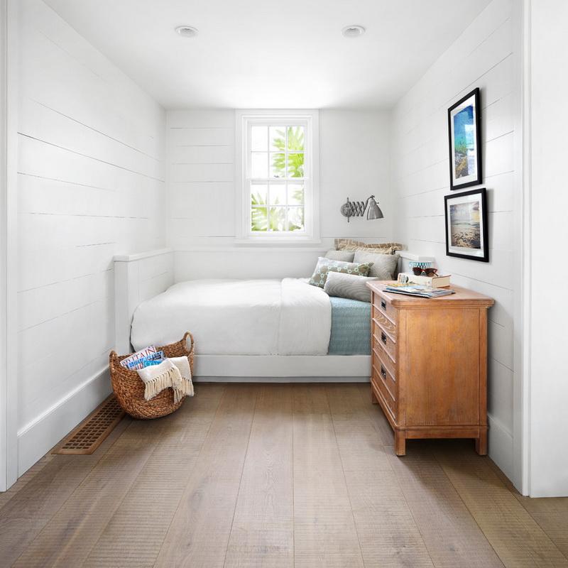 Скандинавский стиль узкой спальни