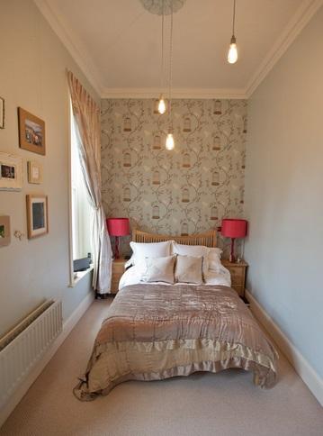 Стиль прованс в узкой спальне