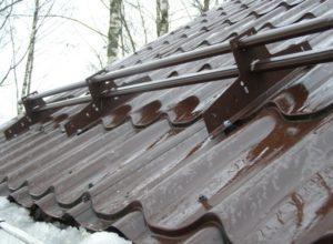 Трубчатые снегозадержатели