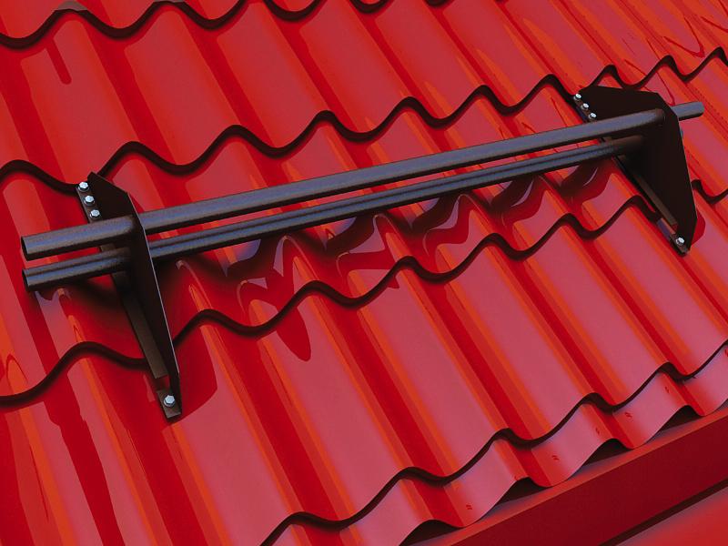 Снегозадержатель на крыше из профнастила