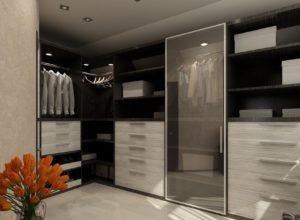Комната с классической гардеробной