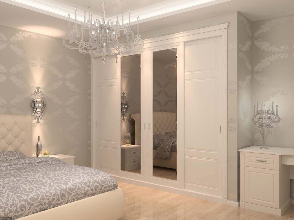 Эргономичная мебель в спальне с маленькой площадью