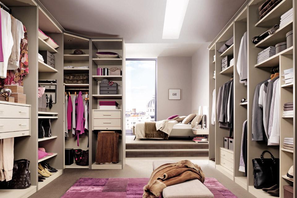 Спальня с гардеробной, в том числе угловая, варианты ... Дизайн Спальни С Угловой Гардеробной