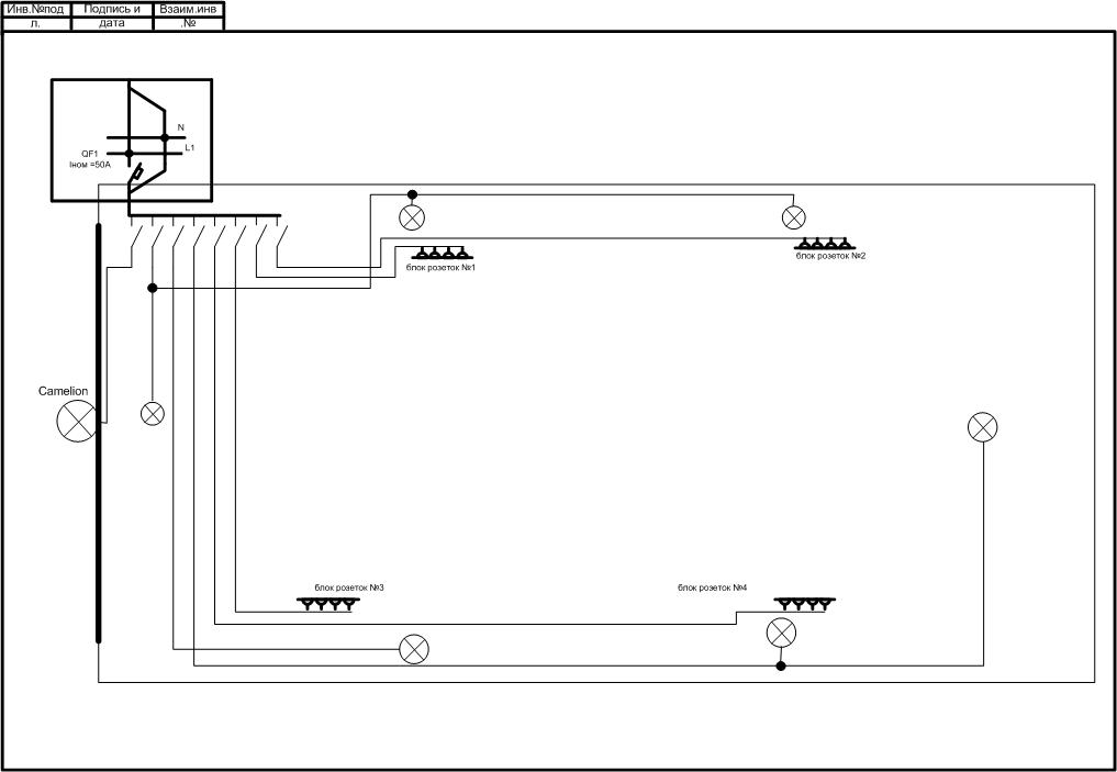 Схема освещения в гараже